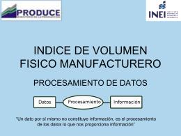 Indice de volumen fisico manufacturero -