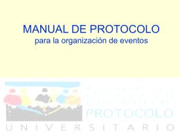 MANUAL DE PROTOCOLO para la organización de