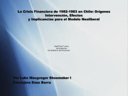 La Crisis Económica De 1982