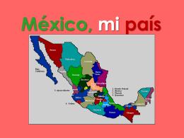 Mexico, mi país