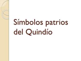 Símbolos patrios del Quindío