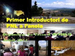 Primer Introductori de PNL a l'anoia