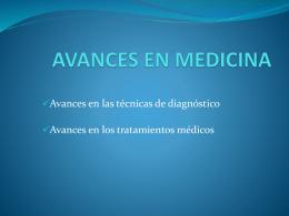 AVANCES EN MEDICINA