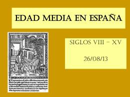 Edad Media en Espana