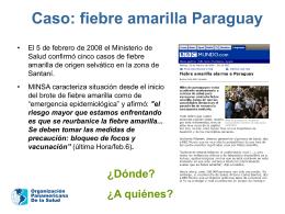 Caso: fiebre amarilla Paraguay