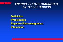 ENERGIA ELECTROMAGNETICA EN TELEDETECCIÓN
