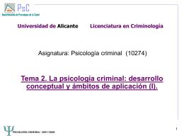 Psicología y criminología (I)