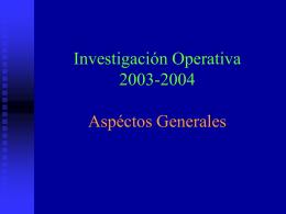 Aspectos Generales sobre la Investigación de