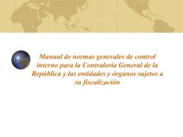Manual de normas generales de control interno para