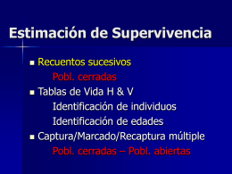 Estimación de Supervivencia