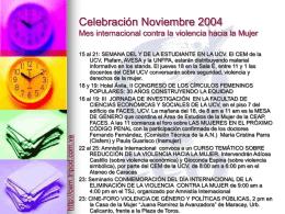 Celebración 2004 Mes internacional contra la