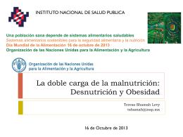 La doble carga de la malnutrición: Desnutrición y