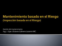 Diapositiva 1 - GestionMantenimientoMentefactusUPQ