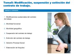 5.Modificación, suspensión y extinción del