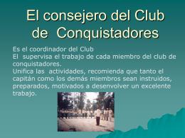 El consejero del Club de Conquistadores