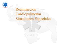 Reanimación Cardiopulmonar Situaciones Especiales