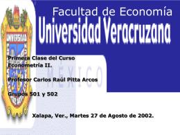 Facultad de Economía, U.V.