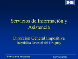 Servicios de información y asistencia Dirección