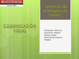Jerarquía de la Imagen - Comunicación Visual |
