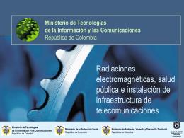 REPUBLICA DE COLOMBIA MINISTERIO DE COMUNICACIONES