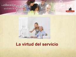 Virtud de servicio