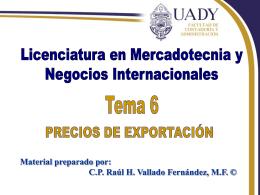 Precios Internacionales - Universidad Autónoma de