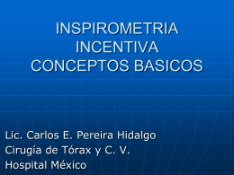 Inspirometría Incentiva