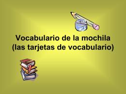 Vocabulario de la mochila