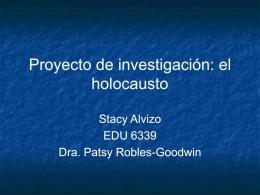 Proyecto de investigación: el holocausto