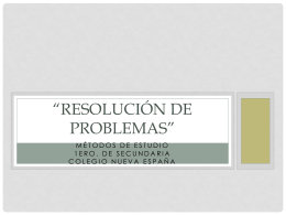 Resolución de problemas""