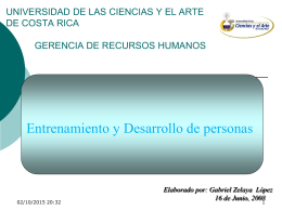 Entrenamiento - Lic. Gabriel Zelaya