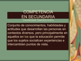 COMPETENCIA CON ENFOQUE CONSTRUCTIVISTA