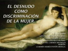 EL DESNUDO COMO DISCRIMINACIÓN DE LA MUJER.