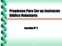 Prepárese Para Ser un Instructor Bíblico