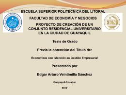 RESUMEN EJECUTIVO - DSpace en ESPOL: Home