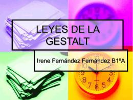 LEYES DE LA GESTALT - PSIQUE IRENE