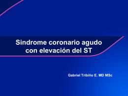 Sindrome coronario agudo con elevación del ST