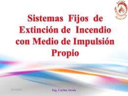 Sistemas Fijos de Extinción de Incendio