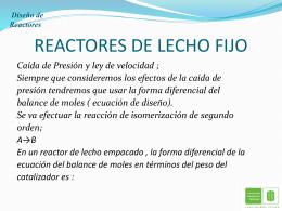 REACTORES DE LECHO FIJO