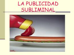 LA PUBLICIDAD SUBLIMINAL - INTEF