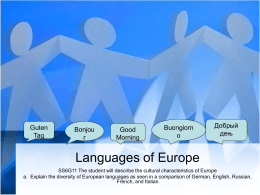Languages of Europe - Effingham County Schools /