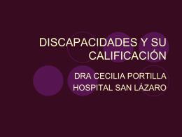 DISCAPACIDADES Y SU CALIFICACIÓN