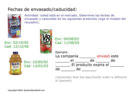 ¿Qué productos vendió el año pasado?