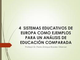 Análisis comparado de sistemas educativos europeos