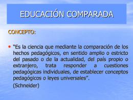 EDUCACIÓN COMPARADA