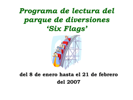 SIX FLAGS SIX HOUR READING PROGRAM