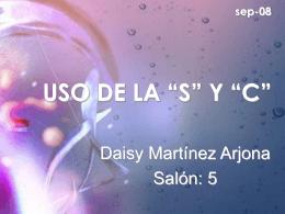 """USO DE LA """"S"""" Y """"C"""""""