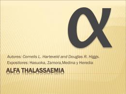 Alfa thalassaemia - Blog de Química Biológica