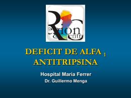 DEFICIT DE ALFA 1 ANTITRIPSINA - AAMR