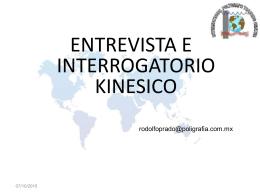ENTREVISTA E INTERROGATORIO KINESICO